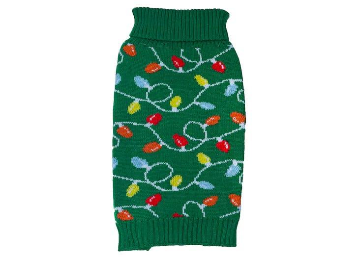 dog christmas sweater lights