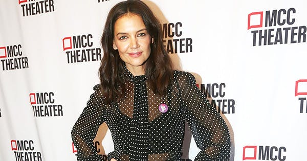 Katie Holmes Is '80s Chic in Michael Kors Polka-Dot Dress