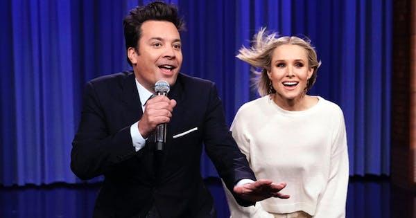 Kristen Bell & Jimmy Fallon Just Performed a Medley of Classic Disney Songs