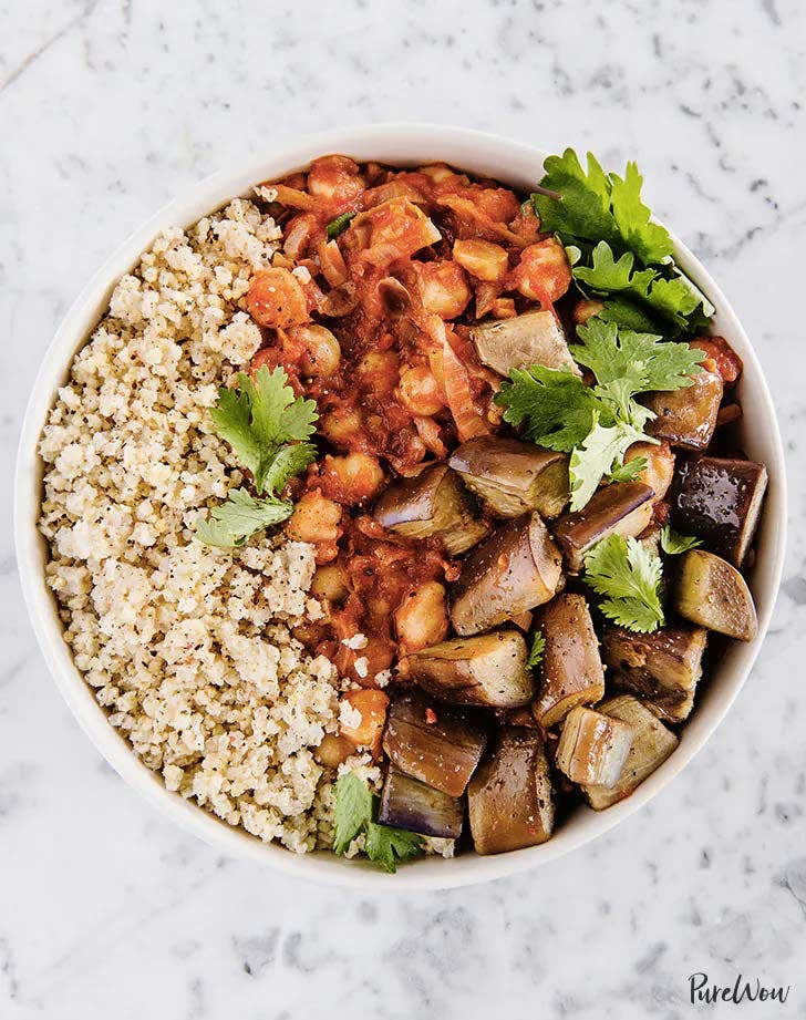 millet recipes harissa chickpea stew with eggplant and millet