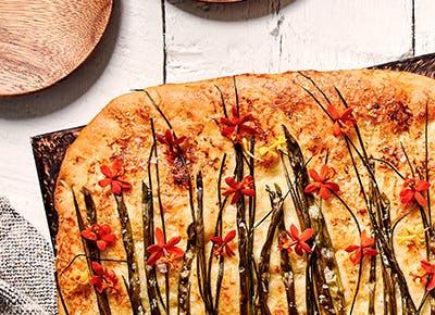 scallion chive flatbread recipe 400