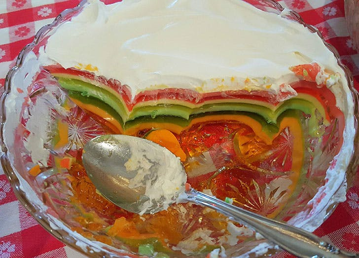 thanksgiving foods ranked bowl of jello salad