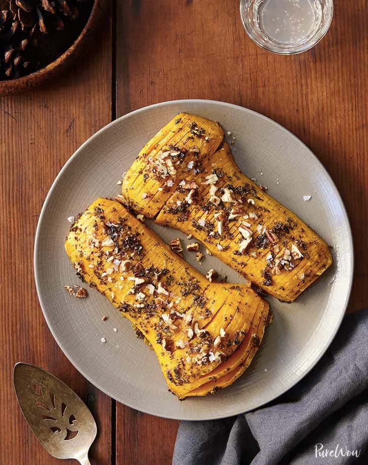 thanksgiving side dishes hasselback butternut squash