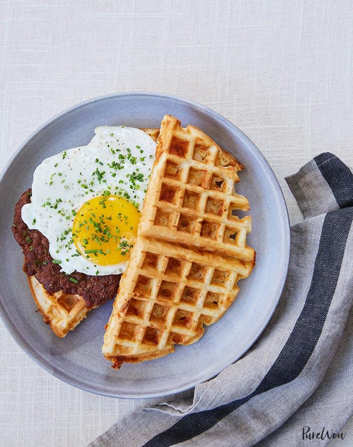 Waffle Breakfast Sandwich with Chorizo