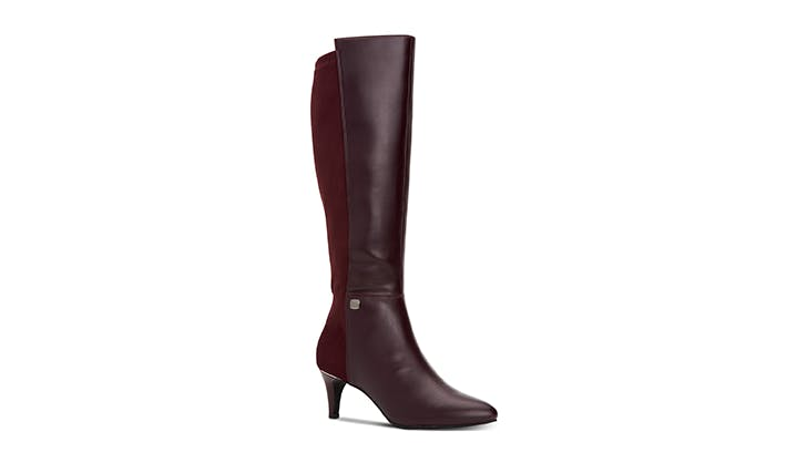 wide boots malbec