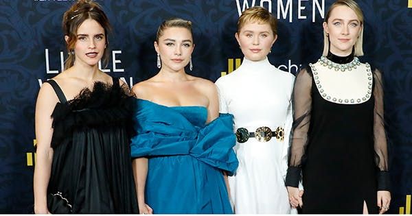 Neon Eyeliner, Orange Shadow & Goth Lips: The Best Beauty Looks on the 'Little Women' Red Carpet