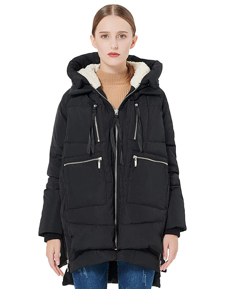 amazon coat black