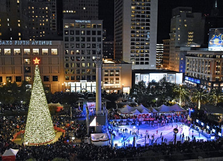 best holiday event san francisco union square ice rink