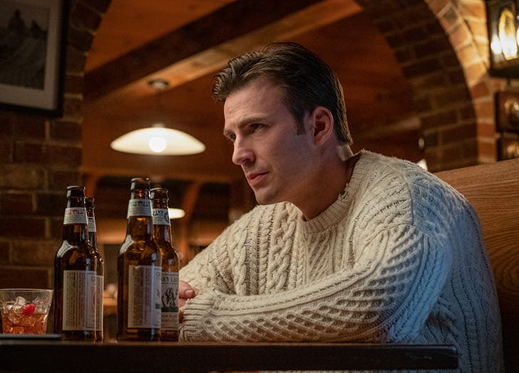 chris evans knives out sweater