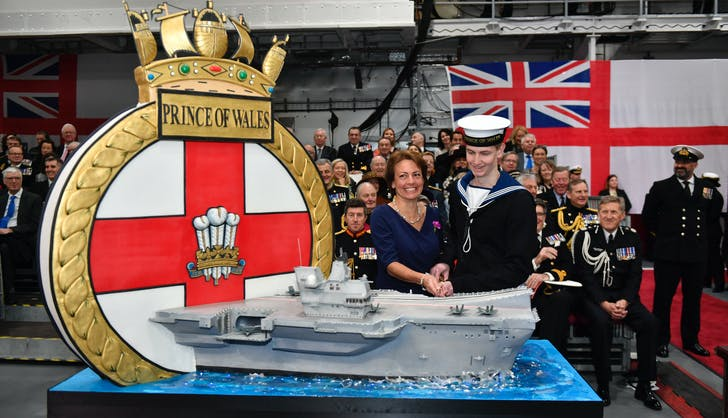 hms prince of wales comissioning ceremony cake