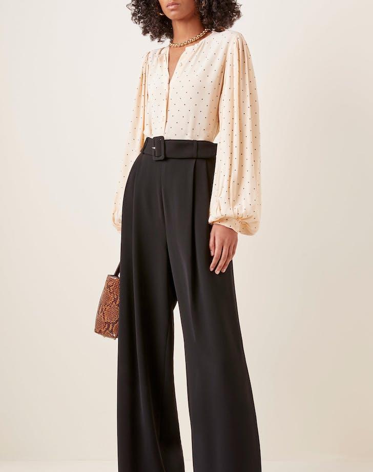 large equipment print cleone blouse1