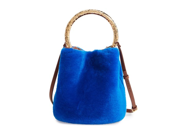 marni Genuine Shearling Bucket Bag