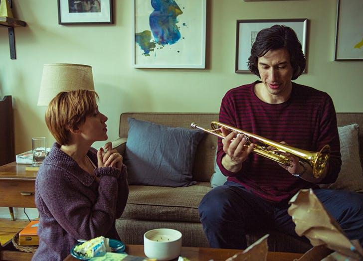 scarlett johansson adam driver marriage story trumpet scene
