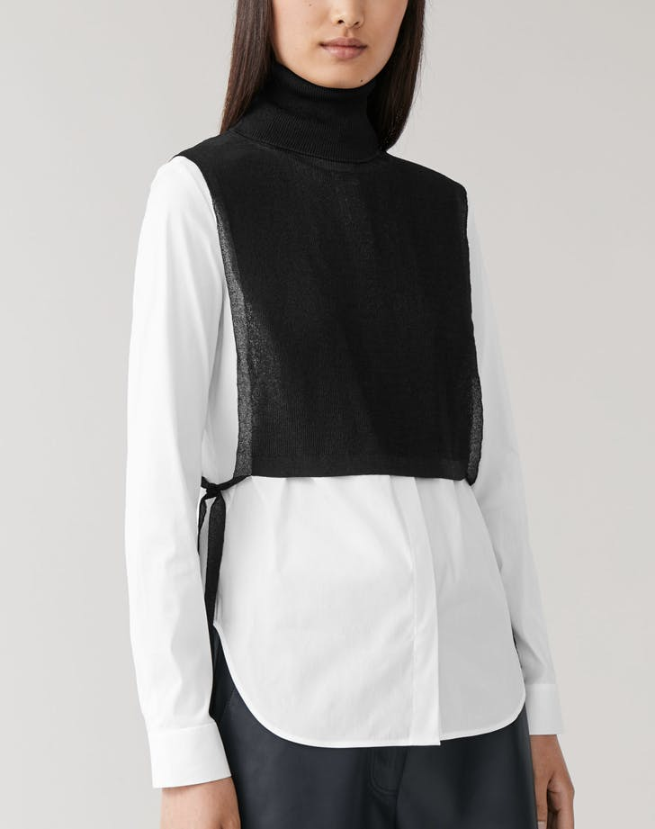 COS Sheer Knitted Mock Collar