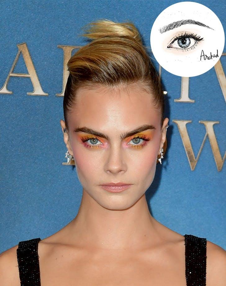 cara delevingne arched brow