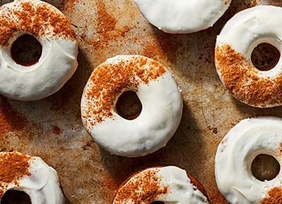 carrot cake doughnuts with cream cheese glaze recipe 400