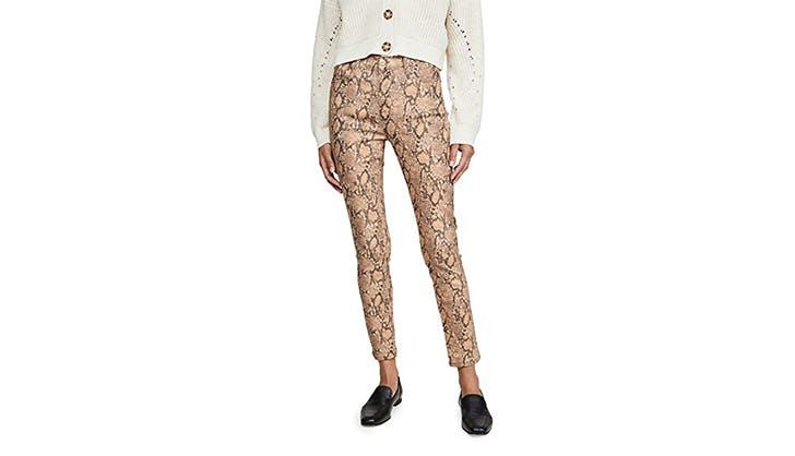 frame jeans snake skin