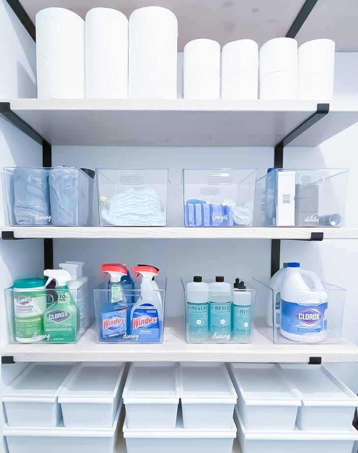 how to declutter your cleaning supplies 2