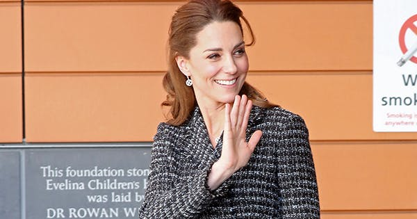 Kate Middleton Rocks Tweed Dolce & Gabbana Skirt Suit (but We're Busy Staring at Those Earrings)