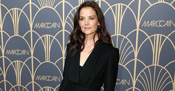 Katie Holmes Packed A Lot of Styling Tricks Into This All-Black Outfit