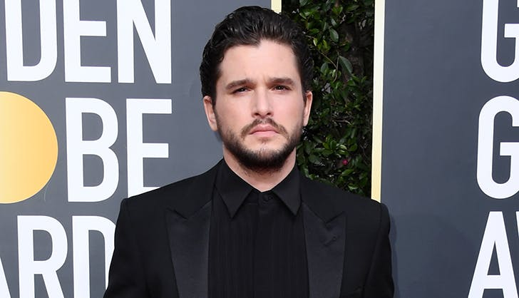 Without His 'Gang,' Kit Harington's Red Carpet Walk Was *Very* Jon Snow