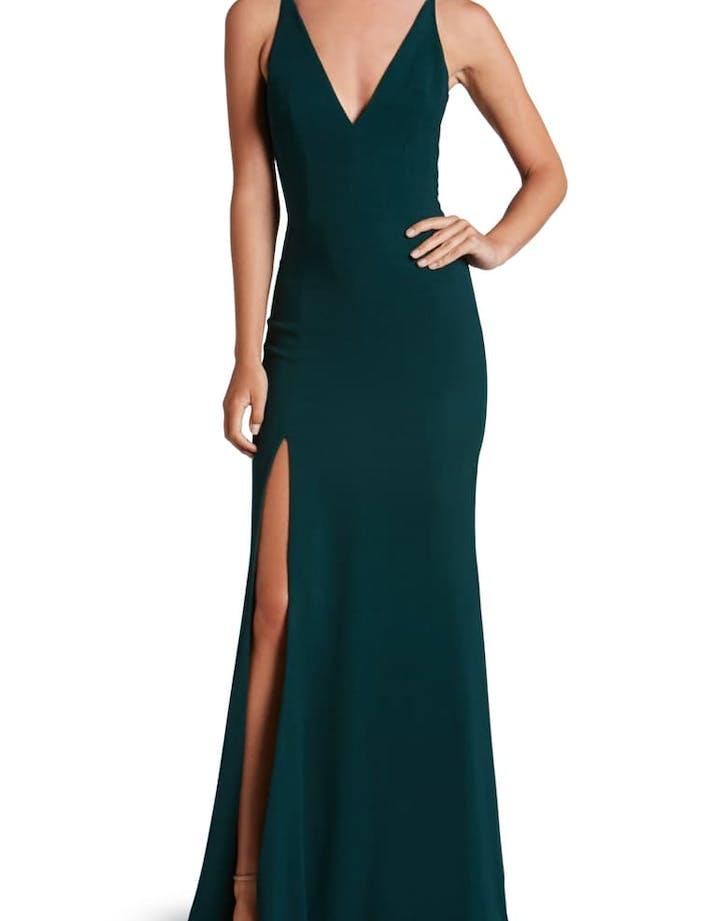 nordstrom bridesmaid dresses DRESS THE POPULATION Iris Slit Crepe Gown