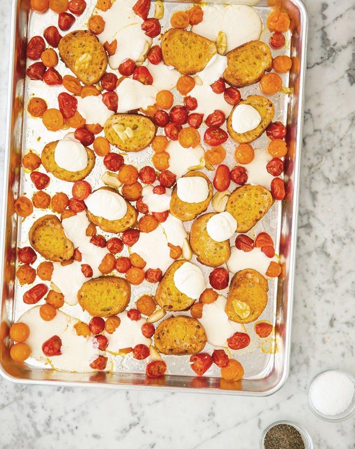 Pan Con Tomate and Mozzarella Bake