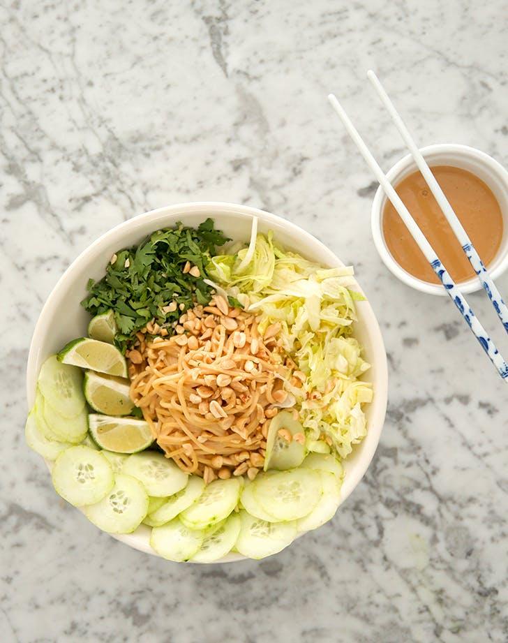 Warm Sesame Noodle Salad