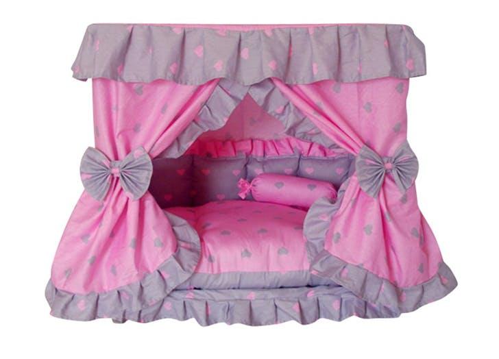 princess dog beds Princess Grey Pink Heart Pet Dog