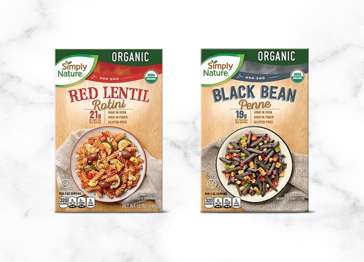 what to buy at aldi simply nature organic red lentil or black bean pasta