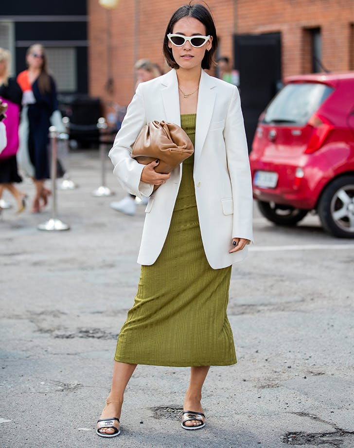 what to wear on a first date blazer and dress