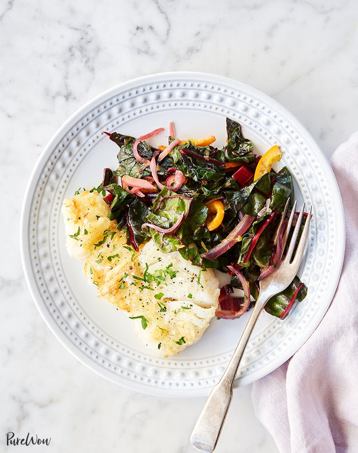 Pan Fried Cod Recipe With Orange And Swiss Chard Purewow