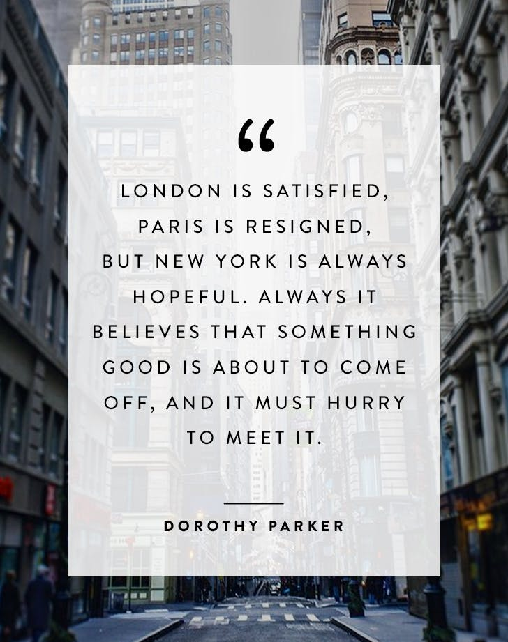 New York quote Dorothy Parker