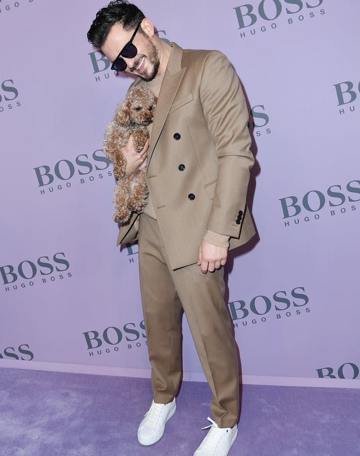 Orlando Bloom with dog mighty.l