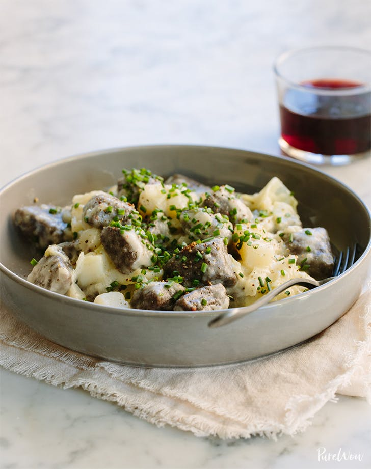 Buckwheat Gnocchi with Cabbage, Potatoes and Fontina