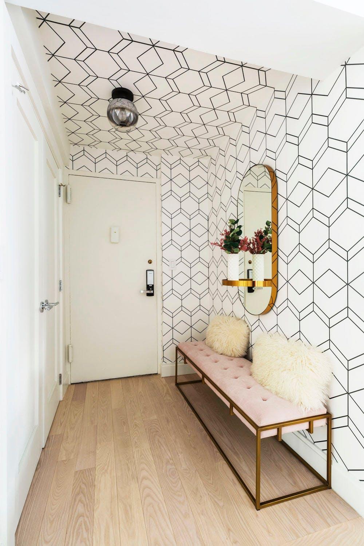 ceiling wallpaper entryway sweeten