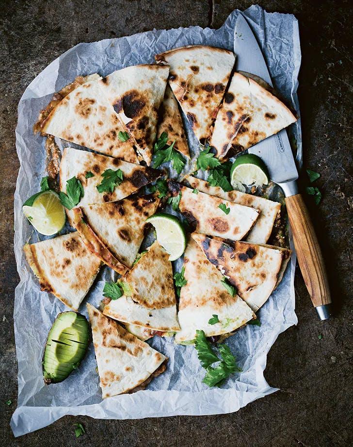 high protein vegetarian meals portobello and avocado quesadillas