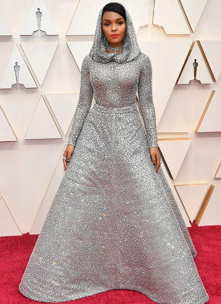 Janelle Monáe Sparkles in 168,000 Swarovski Crystals at the Oscars