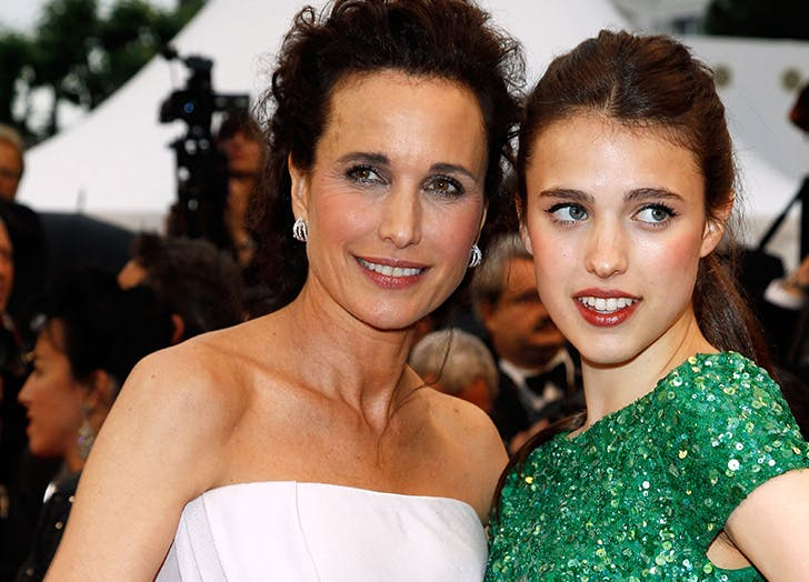 margaret qualley with mom andie macdowell