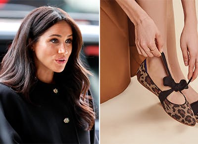 meghan markle with rothys mary jane.c