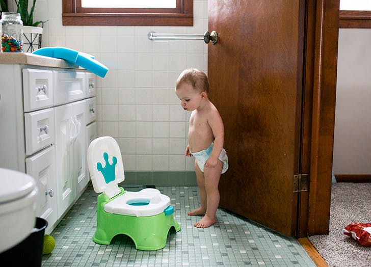 potty training tips toddler wearing a diaper