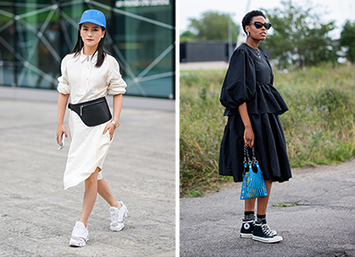 Dresses You Can Wear with Sneakers