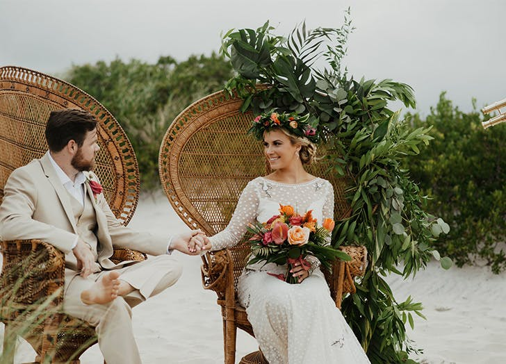 spring wedding colors saffron sage