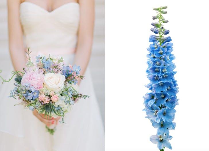 summer wedding flowers DELPHINIUMS