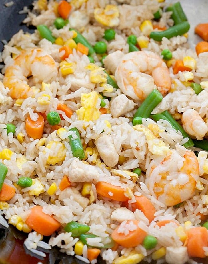 traditional chinese food fried rice