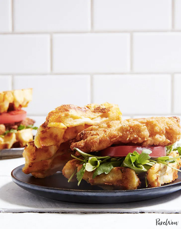 weekly meal plan chicken and waffle sandwiches