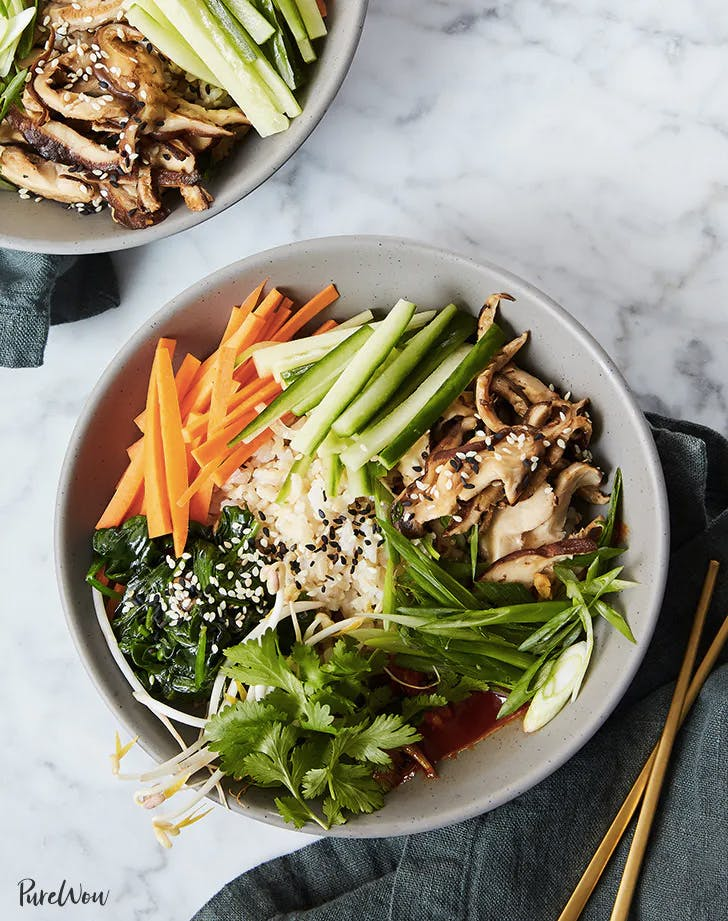 weekly meal plan clean eating bbimbap bowls