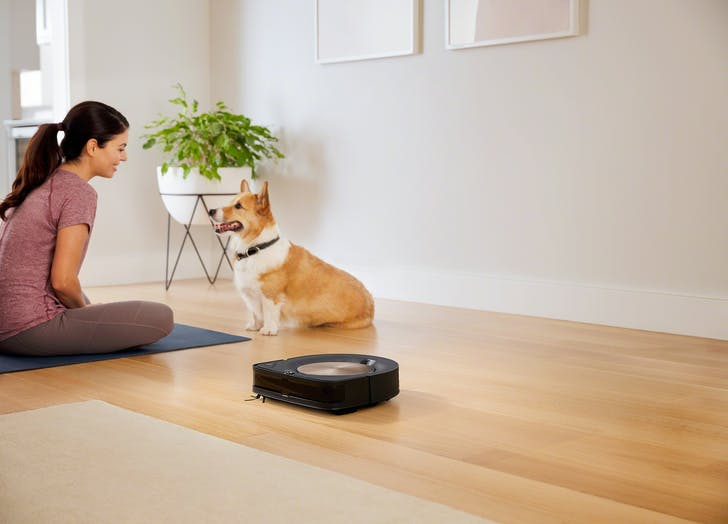 Roomba s9 Lifestyle Mom and Dog