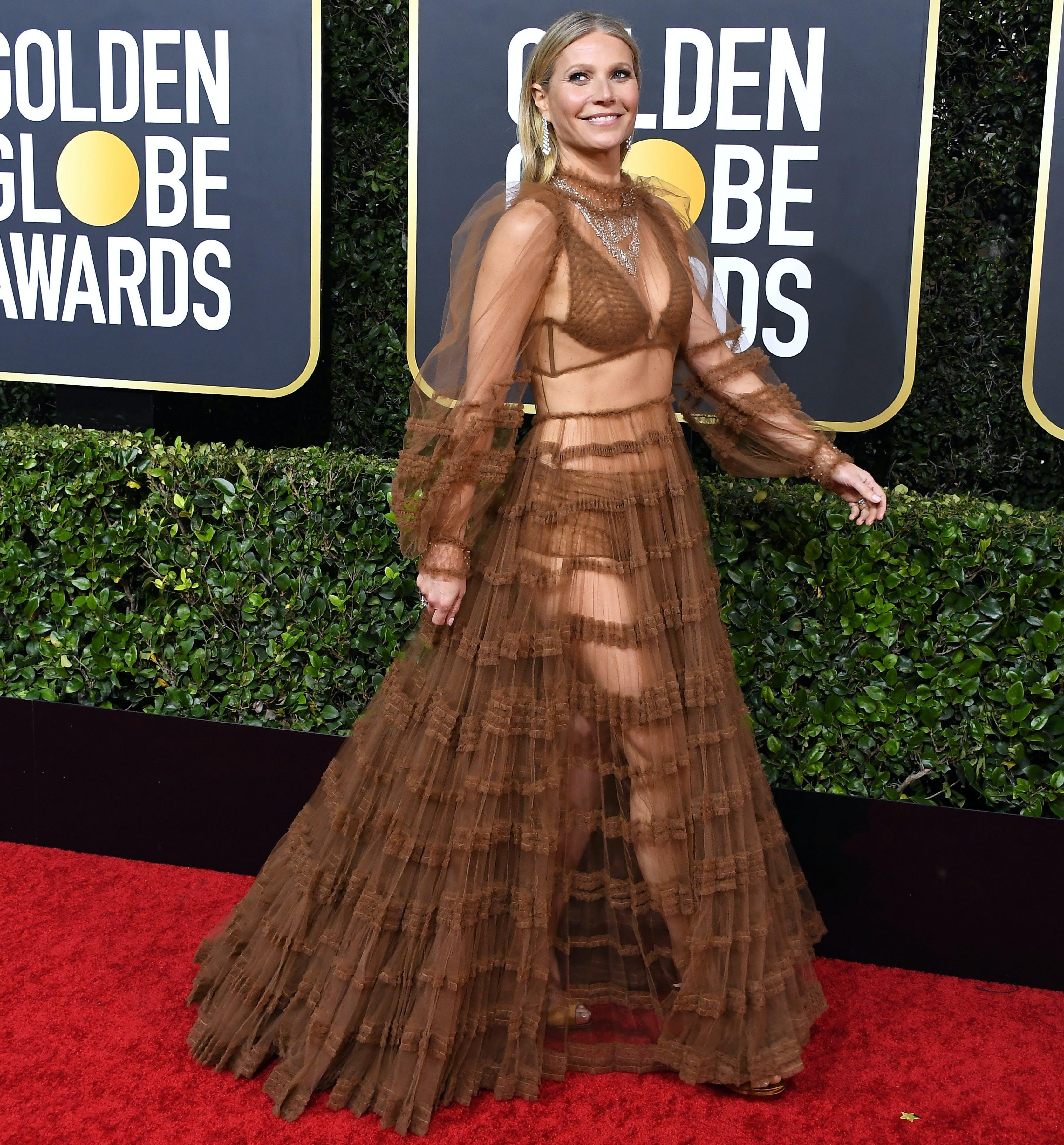 gwyneth paltrow wearing fendi at the golden globes