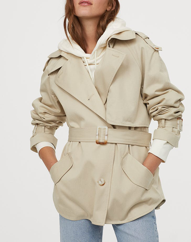 h and m trench coat